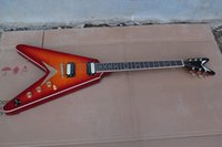 Wholesale Top quality custom shop Flying V Cherry red electric guitar Chinese factory sale
