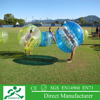 Wholesale 0 mm pvc inflatable soccer bubble ball inflatable bumper ball for outdoor sport