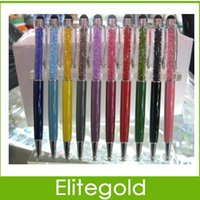 diamond pen - 2 in Color Crystal Diamond Stylus Pen Ball Point Pen For iPhone iPad Samsung HTC