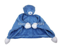 Wholesale bule bear baby Reassure Towel newborn blankie development appease towel educational plush toy