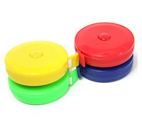 Wholesale 30pc Plastic tape measure Home tool clothing size Soft feet Automatic retractable mix color