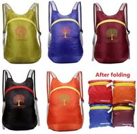 Wholesale New outdoor travel mountaineering backpacks folding waterproof receive a backpack sports fitness leisure bag