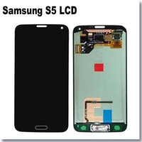Wholesale 100 New original quality For Samsung S5 i9600 G900F G900M G900A LCD Display with Touch Screen Digitizer Assembly Replacement