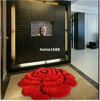 love chair - D Rose Carpet Bedroom Rug Love Carpet Floor Three dimensional Circle Home Decor Chair Mat Bedside Carpet cm