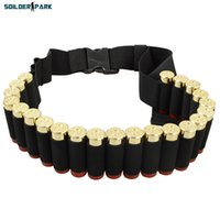 Wholesale Airsoftsports Hunting Shell Ammo Belt Gauge Ammo Holder Military Army Paintball Shotgun Load Bearing Cartridge Belt Black order lt no