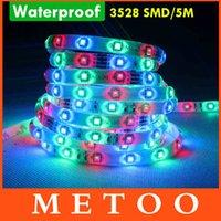 Wholesale m Waterproof RGB Led Strip Light IP65 IP67 DC V Leds Flexible Light String Ribbon Led Tape Home Christmas Decoration