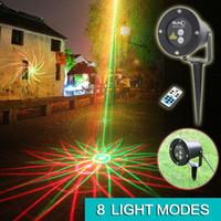 Wholesale 8in1 outdoor IP65 waterproof Laser stage light elf light christmas lights outdoor laser lighting projector red green firefly light projecto