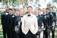 best beach accessories - Wedding Beach Tuxedos Jacket pans bow Custom Made Modest Best Man Groom Wear Accessories Polyester Muslim Long Cheap Men Tuxedos