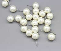Charm bead post - 200pcs ivory color pearlized mm Pearl beads Stud post Earrings fashion vintage style Embellishments free stoppersr