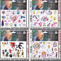 Wholesale Big Hero Stickers Cartoon Minecraft Frozen Minions Temporary Tattoos Sticker cmx10 cm Body Tatoo For Children Factory DHL Free