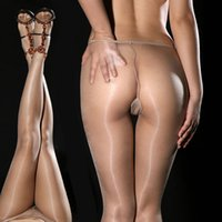 nylon stockings - Super Thin DY Sexy hot Gipsy Women s Invisible Seamless oil silk Shiny Glossy Sheer Stocking Nylon pantyhose hose Tights