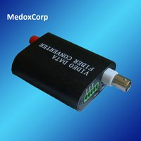 Wholesale Mini V1K to Optic Converter Mini V1K port Video Port Contact Closure over Fiber Transmitter and Receiver km SM SX