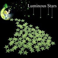 Wholesale 10bag bags Home Wall Decal Glow in the Dark Bedroom Wall Ceiling Glow Stars Sticker decal every bag