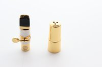 Wholesale SELMER soprano B flat Bb SAX Metal Mouthpiece Size for Saxophone Beginner GOLD plated Saxe