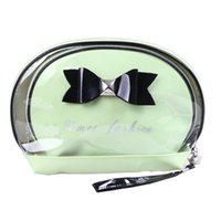 Wholesale 2015 Top Trunk Japan And Korean Style Zipper Makeup Bag The New Two piece Waterproof Transparent Cosmetic Bag Portable Storage