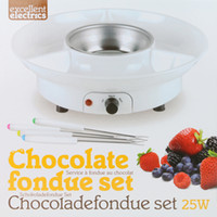 Wholesale Chocolate Melting Pot Cheese Fondue Fountain Machine Set Chocolate Melter
