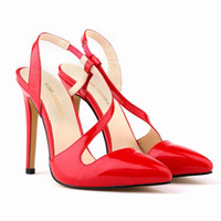 women fashion shoes large size - 2015 New Fashion High Heeled Thin Heels Lace Open Toe Velvet Sandals Shoes Leather Large Size Sexy Star Wth Straps PA