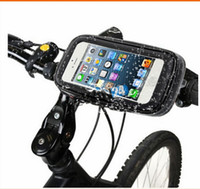Wholesale Waterproof Bicycle Bike Handlebar Case Mount Holder for GPS iPhone S Note Note S3 S4 S5 Mobile Phone
