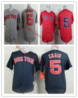 Wholesale Baseball Jerseys Red sox Men CRAIG white Blue Grey Red Jerseys stitched Top quality Mix Order Free Fast Shipping