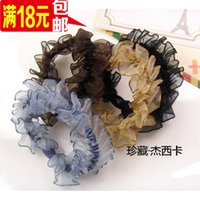 Wholesale Yiwu jewelry Korean hair ring hair rope lace folds new hair accessories rubber band