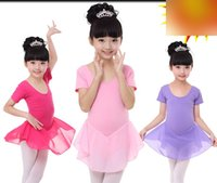 backless shapewear - 3 Designs Cotton Solid Backless Bowknot Ruffly Shapewear Chiffon Kid Girls Ballet Jumpsuits Performance Dance and Leisure N1827