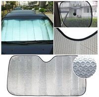 auto shade - Foldable Car Auto Windshield Sunshade Sun Shade Windshield Visor Dashboard Cover Block Heat Reflective Hot