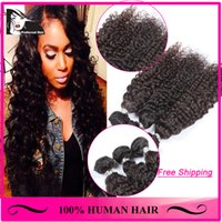 Wholesale Malaysian Human Hair Weaves Kinky Curly A High Quality Nature Color Double Strong Real Malaysian Hair Extensions MKC3