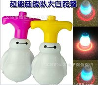 Wholesale 2015 New Arrivals Big Hero Baymax Lamplight Tops Musical Lighting Toys Cute Gifts For Kids Cartoon Beyblade Shinning Light Sales Price Hot