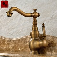 Wholesale in having an antique flavour Antique Brass personalized kitchen faucet
