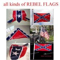 Wholesale Confederate Rebel Flag bandannas Bandanas Headband do rags headwraps cm Civil War Flag Print Scarf Bandana Cotton Free DHL