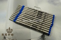 Wholesale Hot Sell Good Quality MM Blue Ink Refill For Roller Ball Pens Smooth Rollerball Writing Pen Refills X3