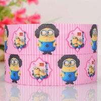 printed ribbon - New Design quot mm yards Despicable Me Printed Grosgrain Ribbon DIY haribow garment accessories XC