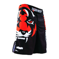 Wholesale The new tigers printing MMA loose boxing muay Thai shorts Sweat quick drying fight training shorts Global