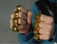 Wholesale GOLD Thick Brass knuckles Knuckle dusters Belt Buckle Self Defense Personal Security Women s and Men s self defense Pendant