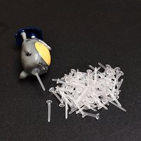 Wholesale Hot Plastic Micro Landscape Jewelry Pin Fixed Needle Stick Bottom Mounting Clear Pins x3mm DIY Hand Tools