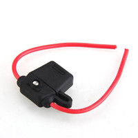 Wholesale New Waterproof A AMP Gauge Blade Fuse Holder With LED Warning Middle sized