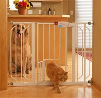 Wholesale Brand NEW Extra Wide Walk Thru Gate Fence with Pet Dog Cat Door White