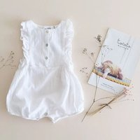 Wholesale 2015 baby girls romper summer Sleeveless cotton baby romper infant climb clothes newborn clothing bubble jumpsuit