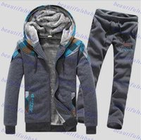 cardigan hooded - 2015 New Arrival Fashion Casual Lovers Hooded Tracksuit Men Print Winter Thick Warm Hoodies Sets