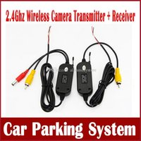 Wholesale 2 Ghz Wireless Video Transmitter Receiver Kit for Car Rear View Camera Reverse Camera Car DVD Player GPS with RCA Video Ports