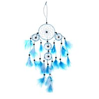 Wholesale ASLT Handmade Dream Catcher with feathers wall hanging decoration ornament blue order lt no track