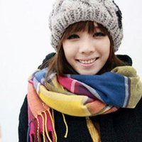 cotton square scarf - New design Hot selling women multicolour plaid scarf square grid scarf colorful scarf warm scarf for Autumn and Winter Z00511