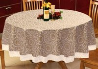 Wholesale European rural PVC plastic waterproof and oil free XiCha several table cloth round table cloth