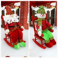 chair foot - Santa Seats Outdoor Decoration Christmas Arrangement Supplies Santa Chair For Christmas Party