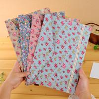 beautiful file folders - 5pcs Dot Floral Pattern Holder Bag Case Paper Canvas Cloth Cute File Folder Snap Fastener Beautiful Cloth Documents Pouch