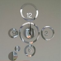 Cheap 3D Wall Clock Best Mirror Clock