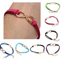 Wholesale 2014 New Korea Cashmere Handmade Infinity Pendant Sister Friendship Wedding Bracelet