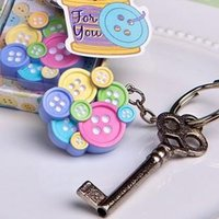 Wholesale Factory directly sale Little colorful Buttons Collection Key Chain Favors baby shower