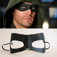 arrow tv series - TV Series Green Arrow Oliver Queen Mask Cosplay High Quality Leather Mens Eye Patch for Party Halloween