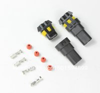 Wholesale Female Male connectors connector HID plug socket new